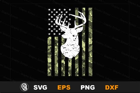Free svg designs, chicago, illinois. Camouflage American Flage Deer Hunting T-Shirt/ Hunting ...