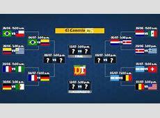 Brasil 2014 así se jugarán los cuartos de final del