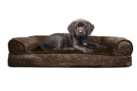 furhaven pet bed furhaven plush suede orthopedic sofa bed pet bed ebay
