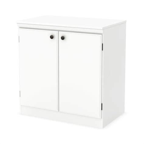 white 2 door storage cabinet south shore morgan 2 door storage cabinet in pure white