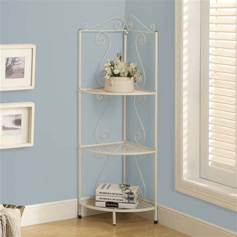 Corner Etagere Bathroom by Monarch 3 Shelf Corner Metal Etagere In White Ebay