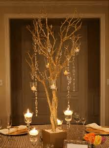 Gold Wedding Table Centerpieces Trees