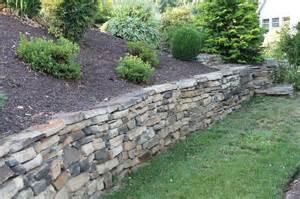 Landscaping Natural Stone Wall