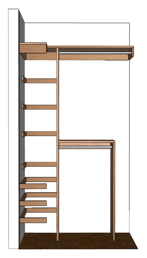 woodworking plans   diy small closet organizer