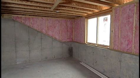Insulating Exterior Basement Walls Bat Wall Insulation