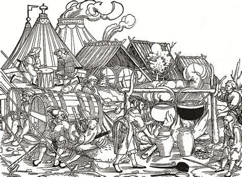 cook siege woodcut landsknecht encment at the siege of munster