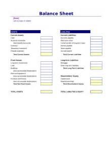 Printable Balance Sheet Format