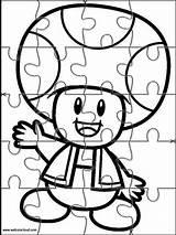 Jigsaw Mario Bros Printable Coloring Puzzles Super Colorear Dibujos Cut Puppet Drawing Kostenlos Ausmalbilder Kleurplaten Brothers Disney Vorlagen Malvorlagen Puzzle sketch template