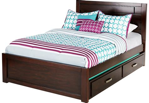 full bed with trundle quake cherry 4 pc panel bed w trundle trundle beds 15294