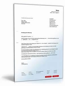 Kündigungsschreiben Wohnung Mieter : fristgem e k ndigung mietvertrag durch vermieter download ~ Lizthompson.info Haus und Dekorationen