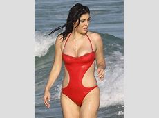 Brittny Gastineau Enjoys a Day at the Beach in Miami Zimbio
