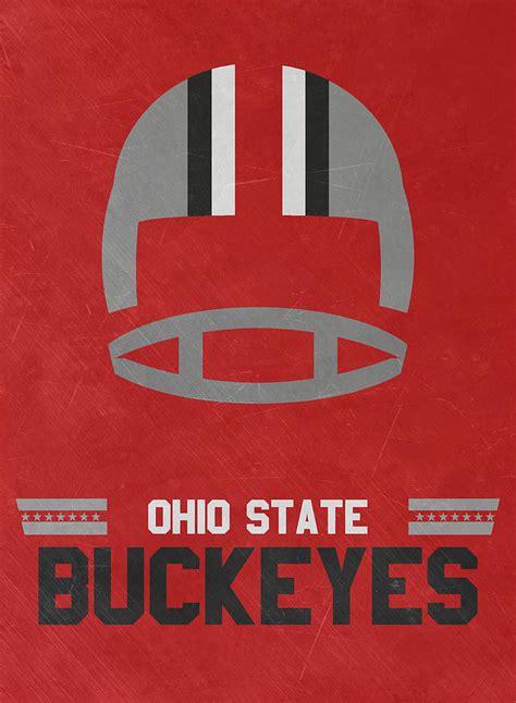 ohio state buckeyes vintage football art mixed media by joe hamilton