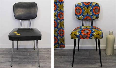 rempailler une chaise avec du tissu diy déco relooker une chaise avec du tissu wax 18h39 fr