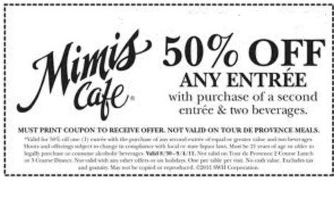 ik饌 cuisine promotion mimis cafe printable coupons december 2015 info printable coupons 2015