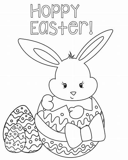 Easter Coloring Pages Bunny Eggs Painting