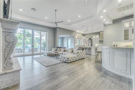 grey hardwood floors   combine gray color  modern