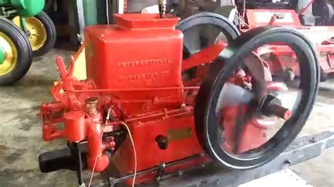 2 12 Hp Ih Famous Hit Miss Engine Youtube