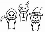 Finger Puppets Halloween Coloring Pages Printable Patterns Puppet Printablee Via sketch template