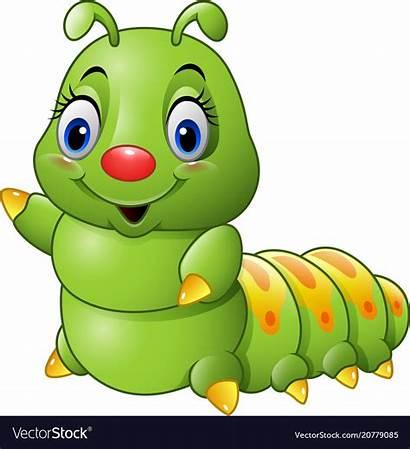 Caterpillar Cartoon Clipart Vector Clip Worm Royalty