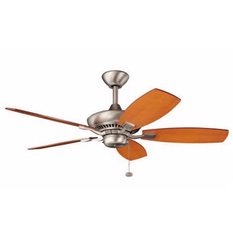 44 ceiling fan with light kichler 44 inch ceiling fan with five blades 300107ni