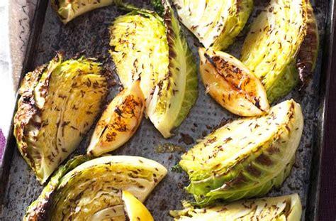 roast cabbage wedges recipe goodtoknow