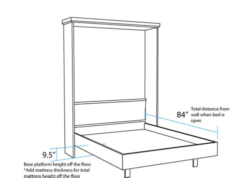 29670 size bed width elsa drop table wall bed and desk wall bed factory