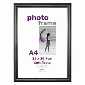 a4 black certificate frame with plexi glass With a4 document frame