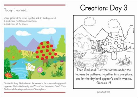 sunday school creation land and plants in my world 665 | 1