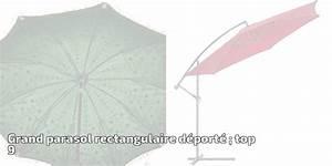 Grand Parasol Rectangulaire : grand parasol rectangulaire d port top 9 pour 2019 meilleur jardin ~ Teatrodelosmanantiales.com Idées de Décoration