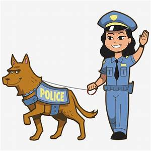 Police and police dogs, Policemen, Police Dog, Cartoon PNG ...