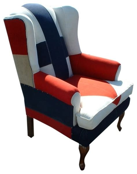 nautical wingback chair ii eclectic armchairs and