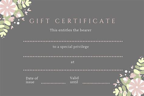green black pink hair salon gift certificate templates