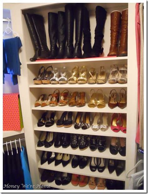 Inside Closet Storage by Shoe Storage Inside Walk In Closet With Detailed