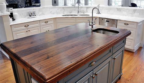 kitchen island tops distressed black walnut heritage wood by artisan