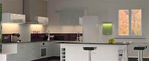 Crédence Cuisine En Verre : pose credence en verre pour cuisine saint gobain ~ Premium-room.com Idées de Décoration