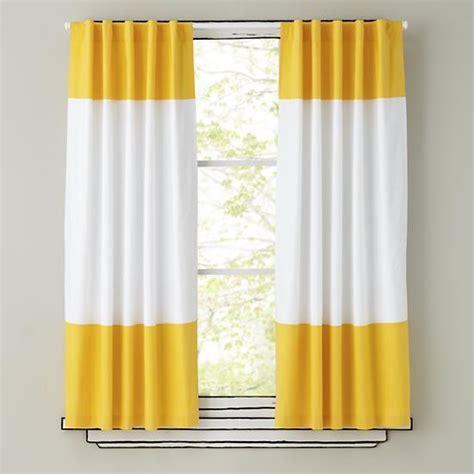 yellow and white curtains yellow and white curtain panels the land of nod