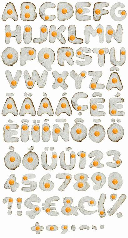 Font Eggs Alphabet Egg Letters Basket Handmadefont