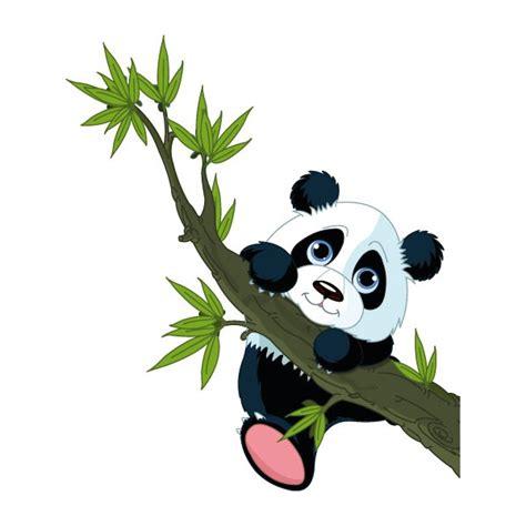 stikers chambre bébé stickers autocollants mural panda bambou