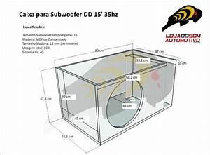 Caixa Para Alto Falante Subwoofer 15 Polegadas