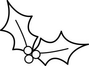 Christmas Holly Clip Art Black and White