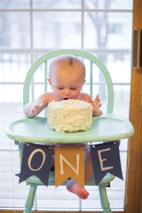 Mason's 1st Birthday  Painted High Chairs, Smash Cakes