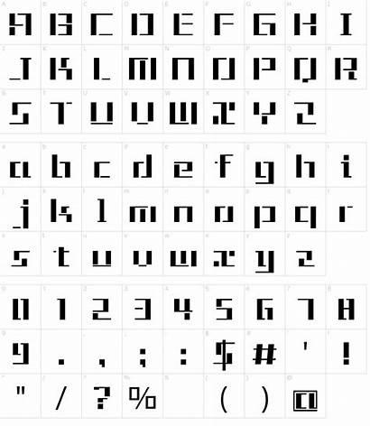 Font Tetris