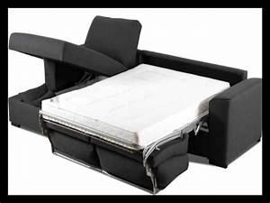 Canape d angle convertible avec vrai matelas 76323 for Tapis de souris personnalisé avec canape cuir 3 places relaxation