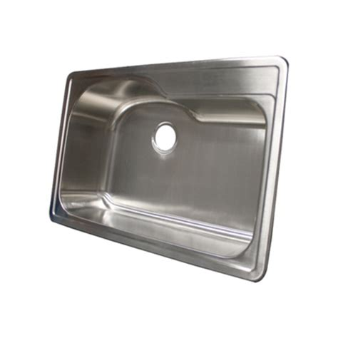 Overmount Stainless Steel Sink by Ticor S990 Overmount 18 Stainless Single Bowl