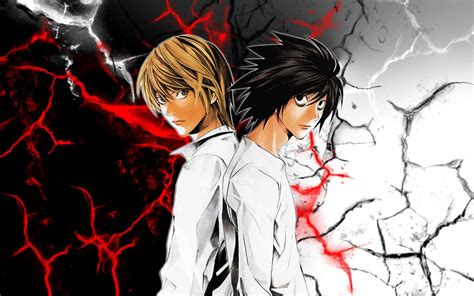 Death Note Wallpaper L And Light Hd