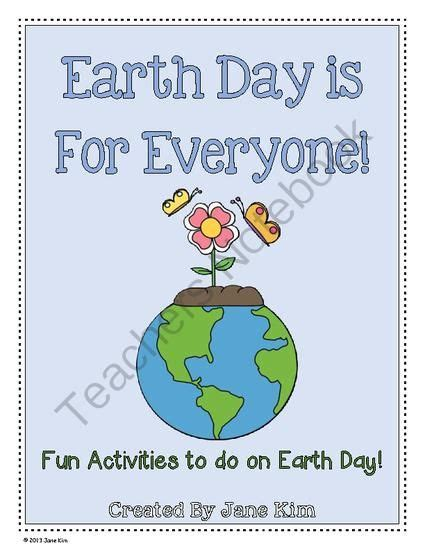 earth day is for everyone fun activities to do on earth day grade 1 2 from kim screations on