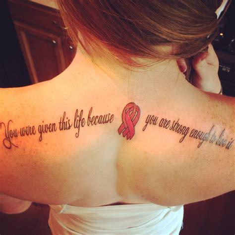 breast cancer  uterine cancer tattoo   strongest women    gramgram