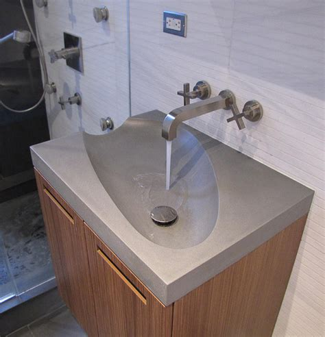 New Bathroom Sink by Concrete Guest Bathroom Sink Modern Bathroom Sinks