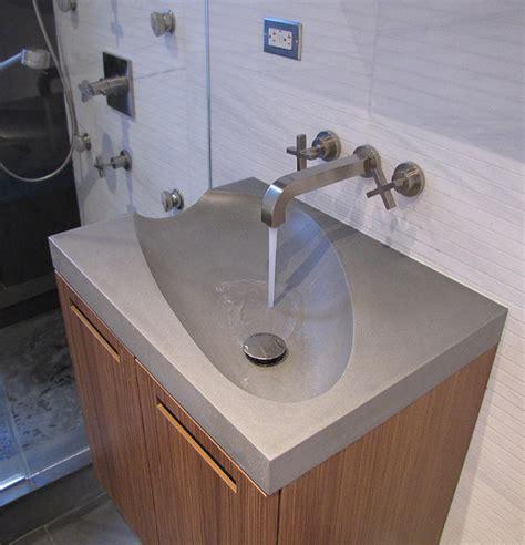 concrete guest bathroom sink modern bathroom sinks
