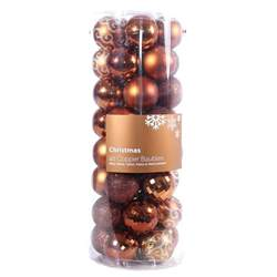 pack of 40 christmas baubles 6cm copper buy online at qd stores
